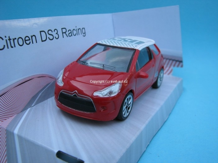 Citroen DS3 Racing red s potiskem 1:43 Mondo Motors