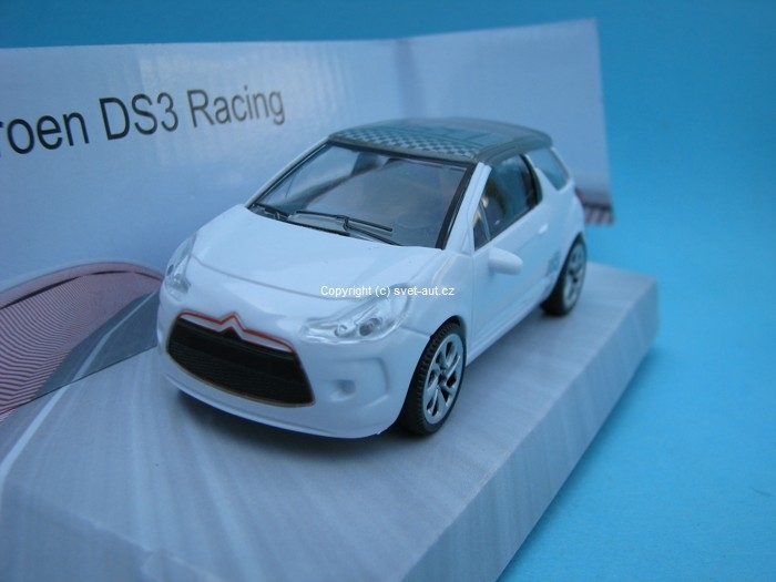 Citroen DS3 Racing white s potiskem 1:43 Mondo Motors