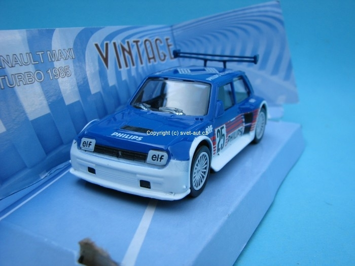 Renault R5 Maxi Turbo 1985 blue No.25 1:43 Mondo Motors