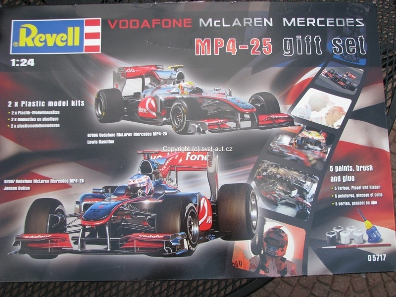 Vodafone McLaren Mercedes MP4-25 Gift set 05717 1:24 Revell