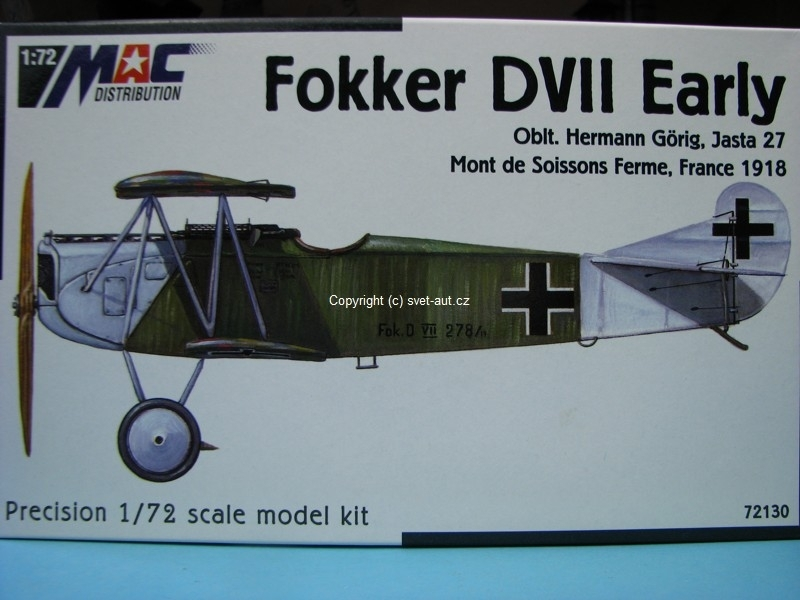 Fokker DVII Early stavebnice 1:72 MAC