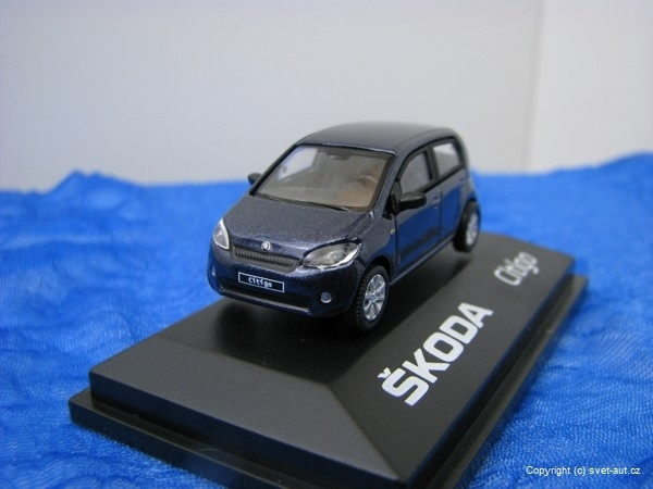 Škoda Citigo KL Night Blue Metallic 1:72 Abrex
