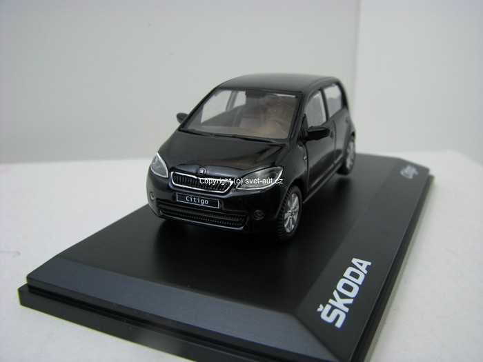Škoda Citigo 5D DA Deep Black Metallic 1:43 Abrex