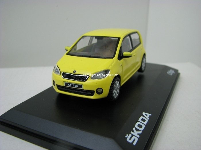 Škoda Citigo 5D GR Sunflower Yellow 1:43 Abrex