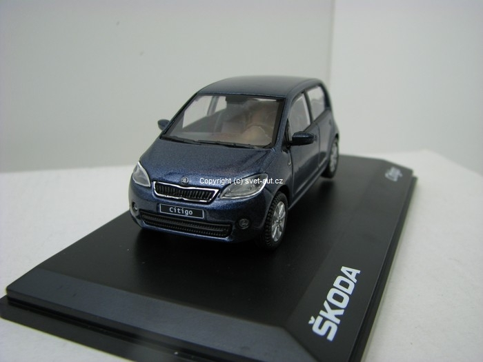 Škoda Citigo 5D KL Night Blue Metallic 1:43 Abrex