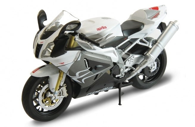 Aprilia RSV 1000R white silver 1:10 Welly