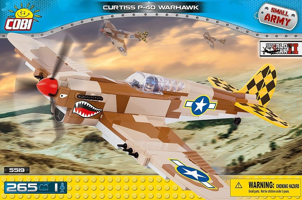 Cobi 5519 stavebnice Curtiss P-40 Warhawk Small Army