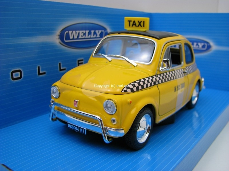 Fiat 500 Nuova Taxi 1:24 Welly