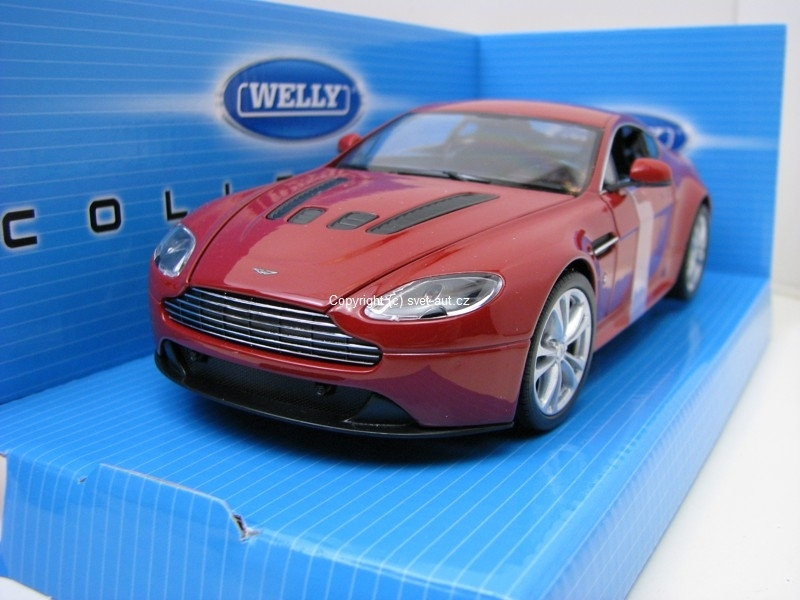Aston Martin V12 Vantage 2010 red 1:24 Welly