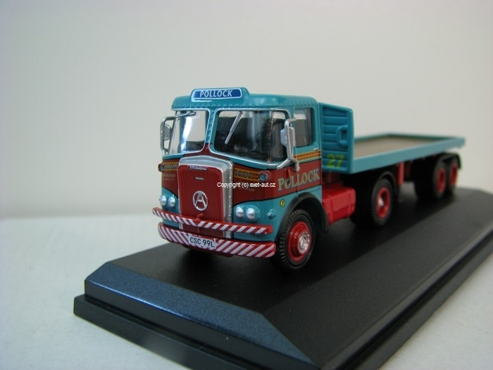 Pollock Atkinson Borderer Flatbed Trailer 1:76 Oxford