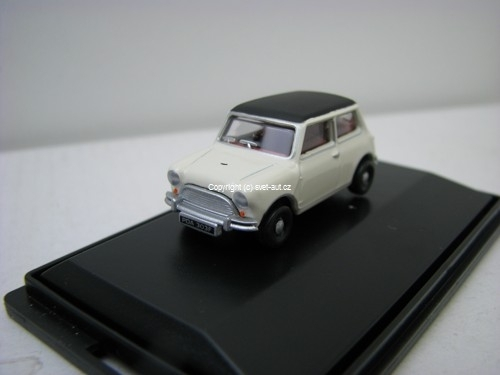 Austin Mini white black 1:76 Oxford