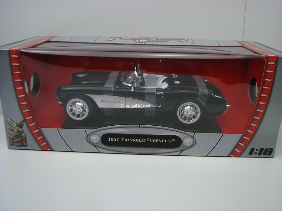 Chevrolet Corvette 1957 black 1:18 Yat Ming