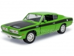 Plymouth Barracuda 1969 Green 1:18 Yatming