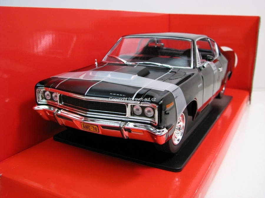 AMC Rebel 1970 black 1:18 Yatming