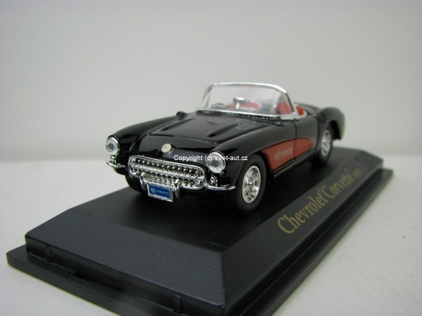 Chevrolet Corvette 1957 black 1:43 Yat Ming