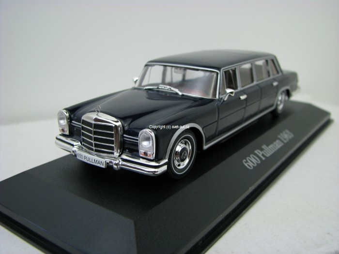 Mercedes-Benz 600 Pullman 1963 blue 1:43 Atlas
