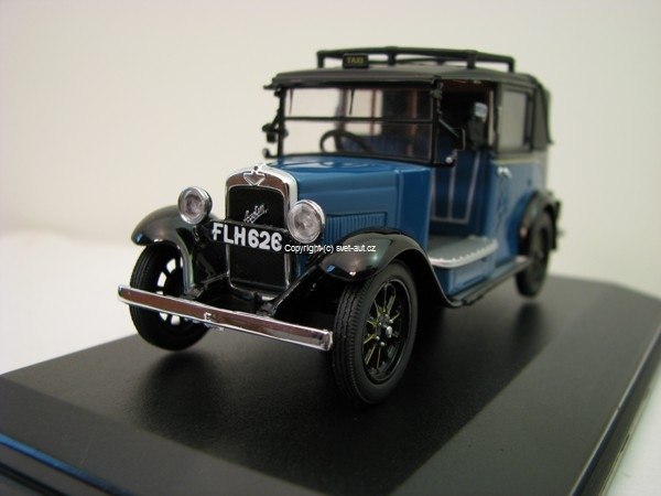 Austin Low Loader Taxi Blue 1:43 Oxford