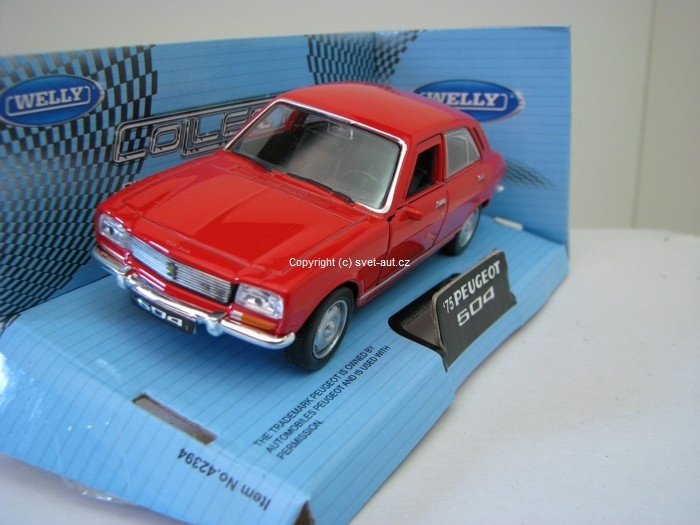 Peugeot 504 1975 red 1:32 - 36 Welly