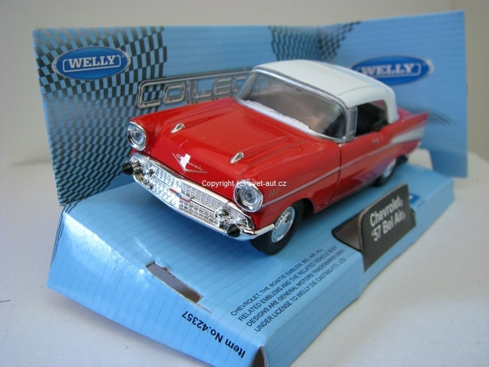 Chevrolet Bel Air 1957 Soft top red 1:32 - 36 Welly