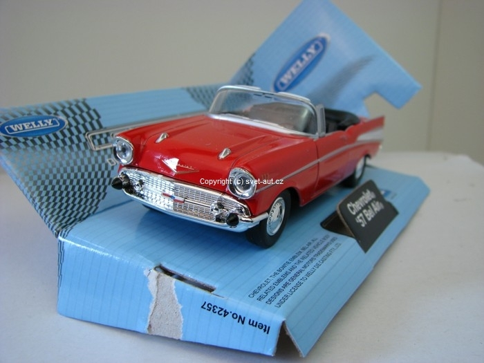 Chevrolet Bel Air 1957 Cabrio open red 1:32-36 Welly