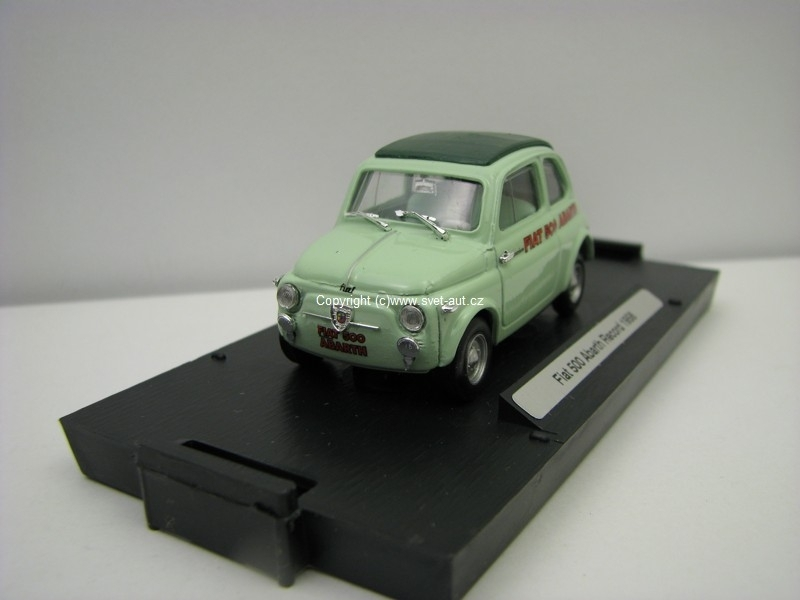Fiat 500 Abarth Recored 1958 1:43 Brumm