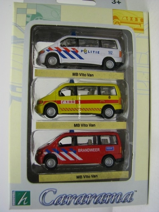 Mercedes-Benz Vito Van 3 ks Security 1:72 Cararama