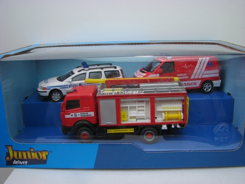 Junior Rescue Emergenci set 3 ks 1:43 Cararama
