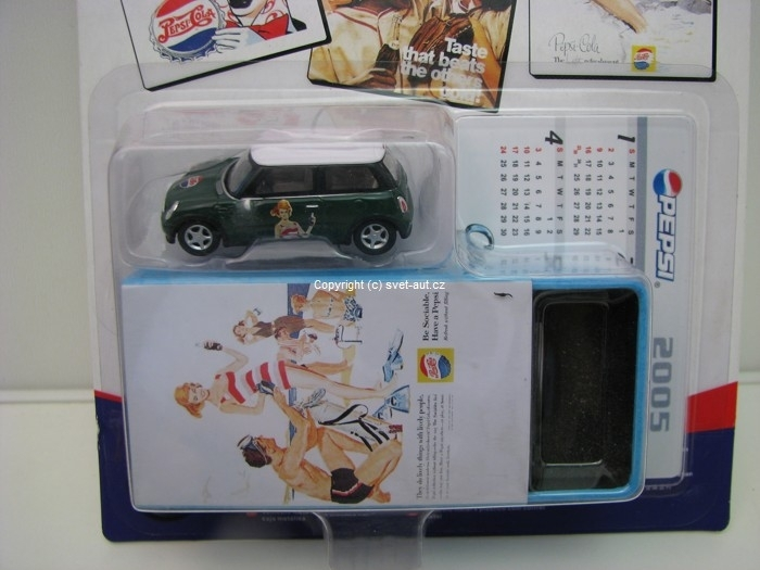 Mini Cooper New Pepsi box 1:72 Cararama