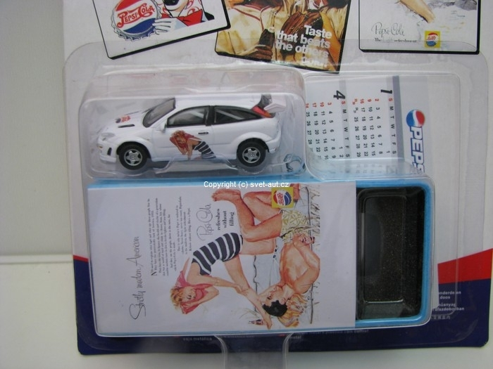 Ford Focus Pepsi box 1:72 Cararama