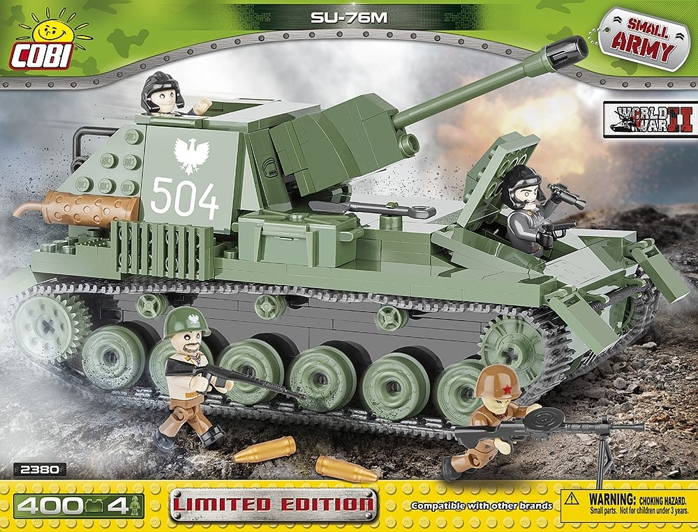 Tank SU-76M World War II Limited Edition stavebnice Cobi 2380 Small Army