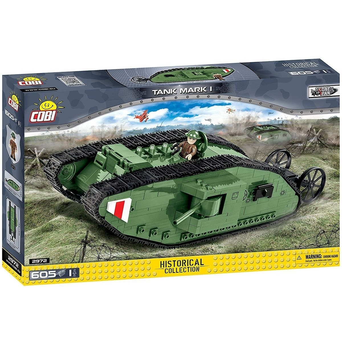 Cobi 2972 Tank Mark I stavebnice Great War