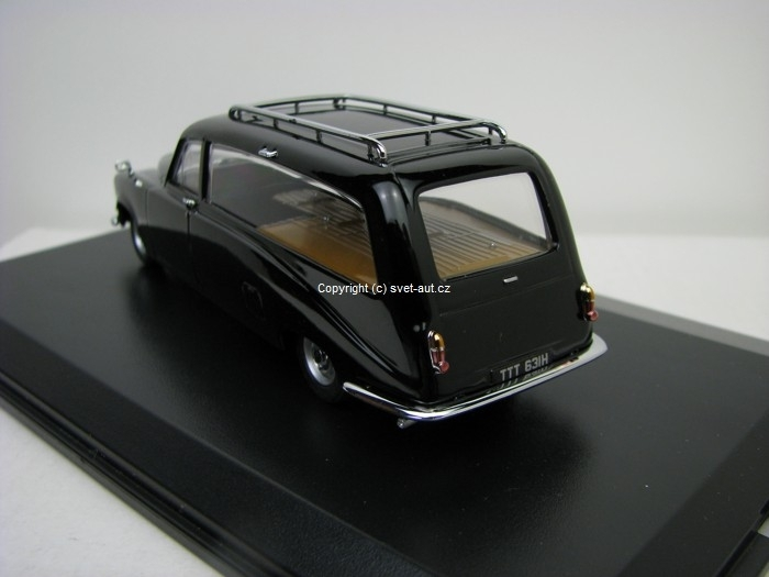 Daimler DS420 Black Hearse pohřebák 1:43 Oxford