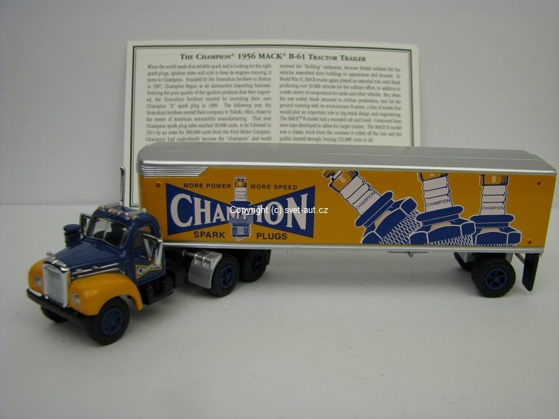 Mack B-61 tractor trailer Champion 1956 Dinky