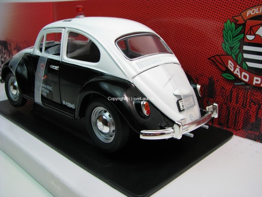 Volkswagen Fusca policia civil 1967 1:18 Greenlight