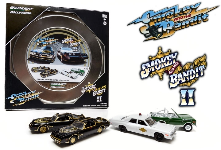 1:64 HOLLYWOOD FILM REELS SERIES 1 - SMOKEY & THE BANDIT (1977) AND II (1980)