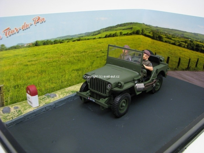 Jeep Willys 1:43 diorama Ixo Altaya