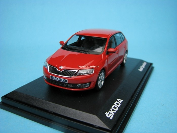 Škoda Rapid Spaceback red Corrida 1:43 Abrex