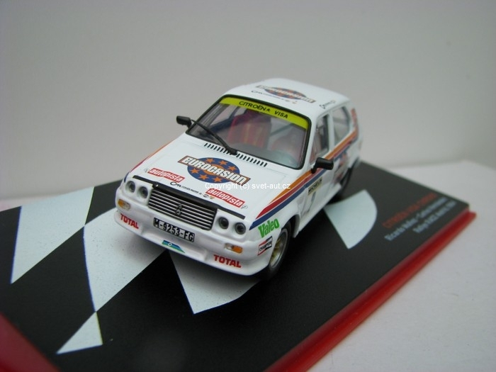Citroen Visa Chrono No.2 Rallye Race Madrid 1984 1:43 Ixo Altaya