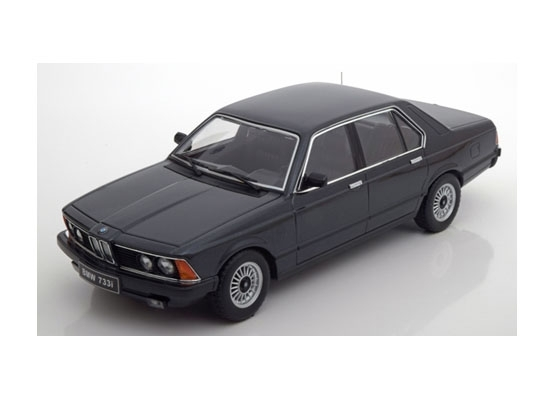 BMW 733i E23 1977 Black 1:18 KK scale