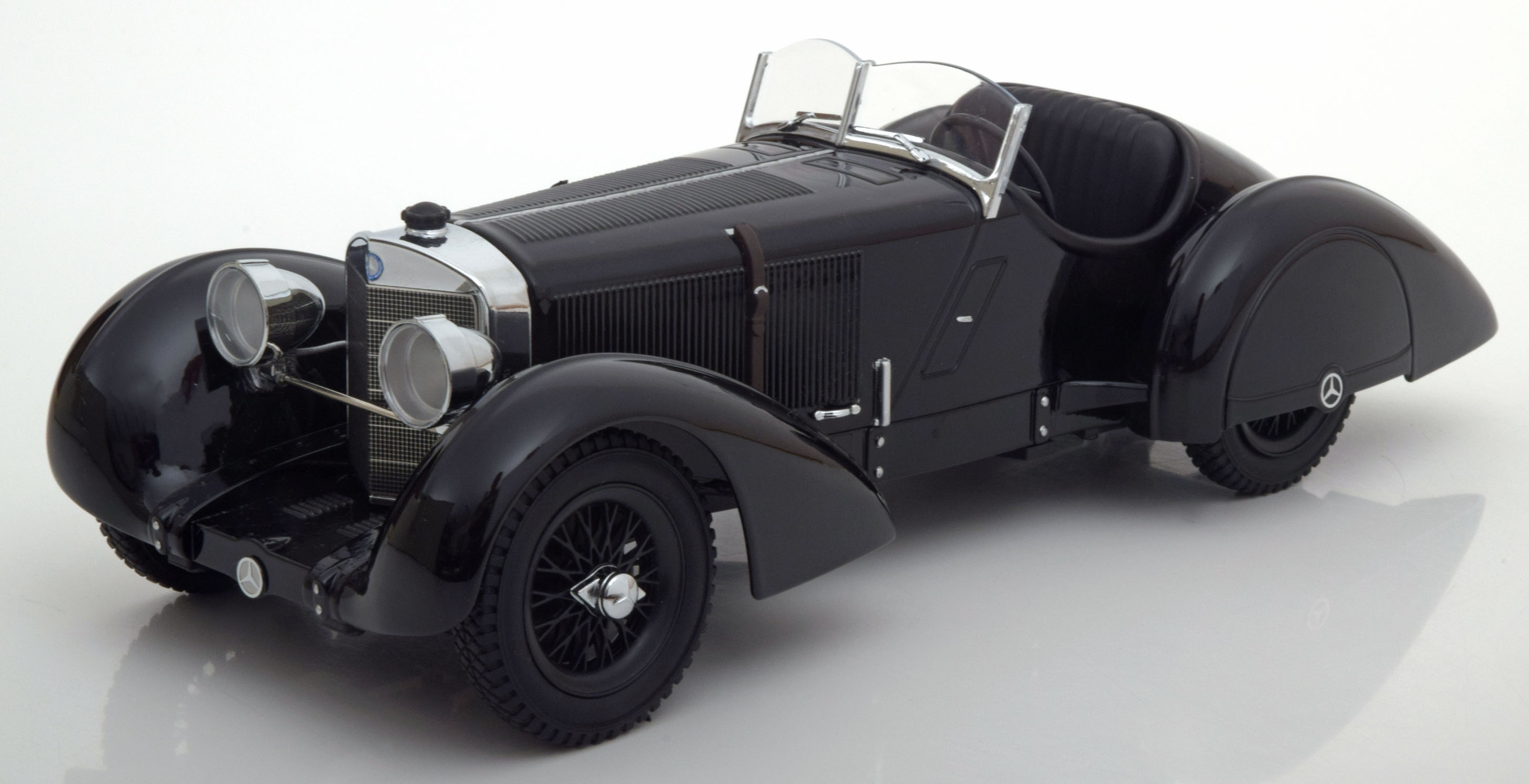 Mercedes SSK Count Trossi black prince 1930 1:18 KK scale