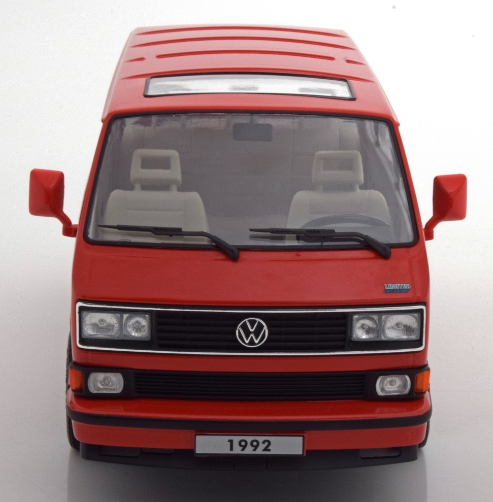 Volkswagen T3 Bus 1992 Red Limited last edition 1:18 KK scale