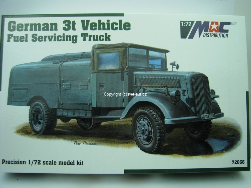 Opel Blitz German 3t vehicle fuel servicing truck 1:72 MAC