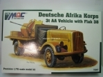 Deutsche Afrika Korps 3t AA vehicle with flak 38 1:72 MAC