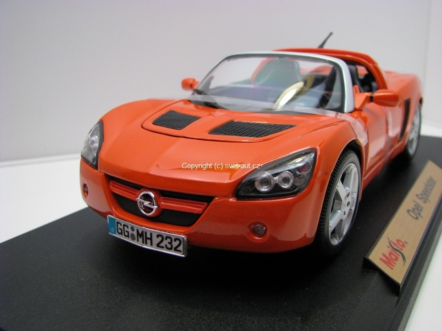 Opel Speedster Orange 1:18 Maisto
