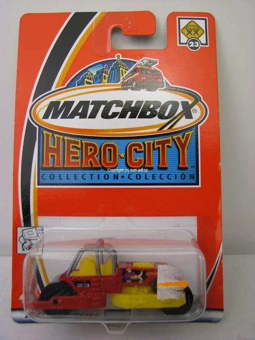 Válec Road Roller Matchbox Hero City