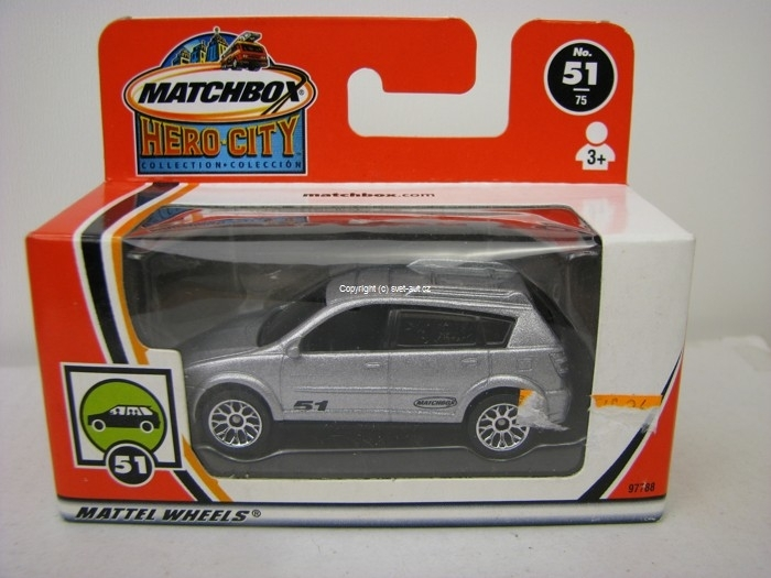 Pontiac Vibe GT silver Matchbox Hero-City Box 97788