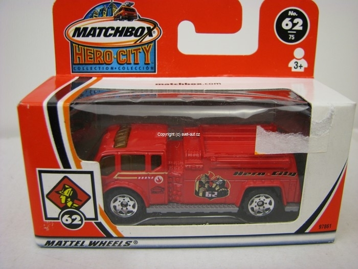 Fire Water Pumper Matchbox Box