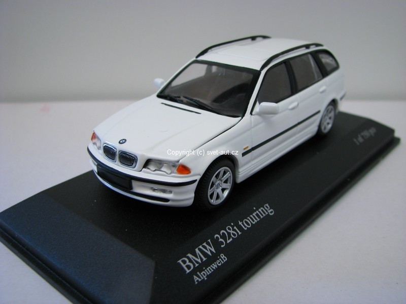 BMW 328i touring alpinweis 1:43 Minichamps