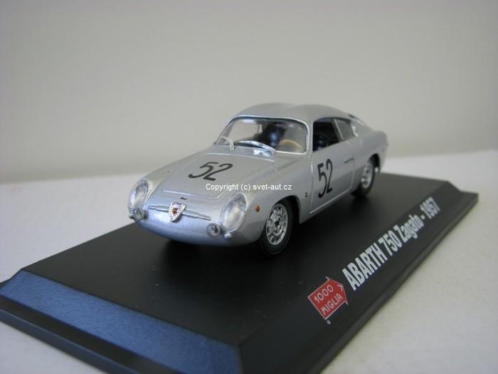 Abarth 750 Zagato 1000 Mil 1957 1:43 Starline Models