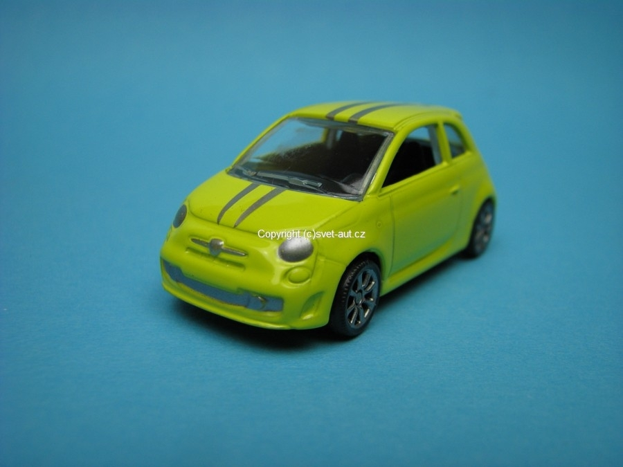 Abarth 500 Tributo Ferrari yellow 1:64 Mondo Motors